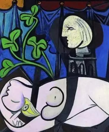 毕加索 《Nude,Green Leaves, and Bust》 1932年